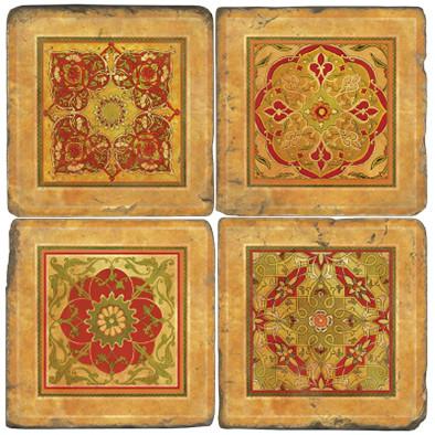 Italian Tile Coaster Set