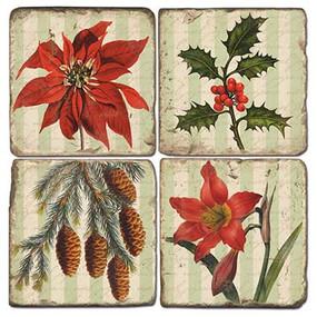 Winter Holiday Themed Coaster Set