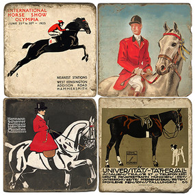 Equestrian Coaster Set