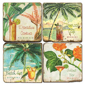 Tropical Drink Coaster Set