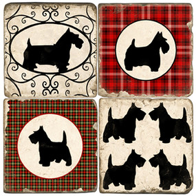 Scottish Terrier Coaster Set