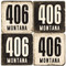 Montana Area Code 406 Coaster Set