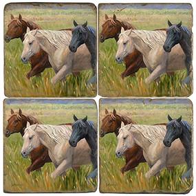Horses Themed Coaster Set