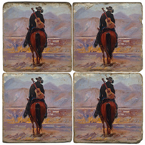 Cowboy on Horse Coaster Set
