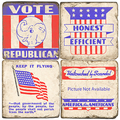 Republican Party Coaster Set
