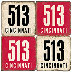 Cincinnati Area Code 513 Coaster Set