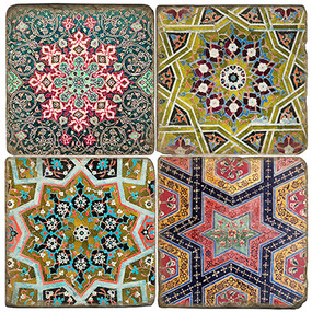 Colorful Persian Tiles Coaster Set