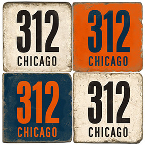 Chicago Area Code 312 Coaster Set