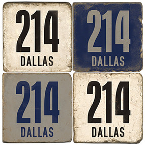 Dallas Texas Area Code 214 Coaster Set