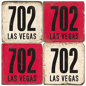Las Vegas Area Code 702 Coaster Set