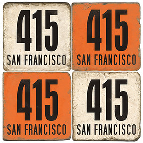 San Francisco Area Code 415 Coaster Set