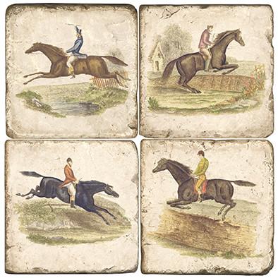 Jumping Horses Coaster Set