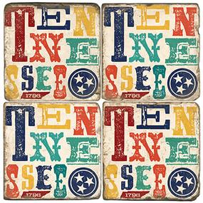 Tennessee Coaster Set. Handmade Marble Coaster Set by Studio Vertu.