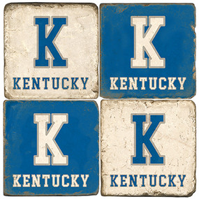 Kentucky Themed Coaster Set.  Handmade Marble Giftware by Studio Vertu.