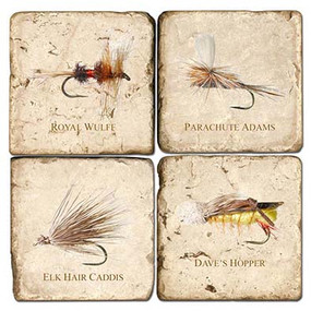 Fly Fishing Coaster Set