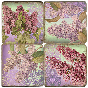 Colorful Lilac Coaster Set