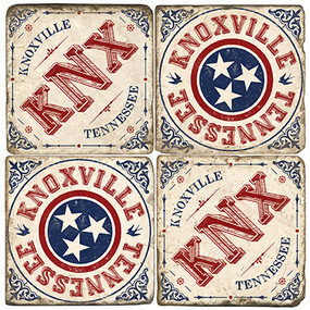 Knoxville, TN Coaster Set. Handmade Marble Giftware by Studio Vertu.
