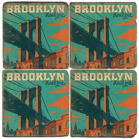 Brooklyn New York Coaster Set