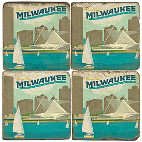 Milwaukee, Wisconsin Coaster Set