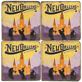 New Orleans Coaster Set