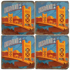 Sacramento, California Coaster Set