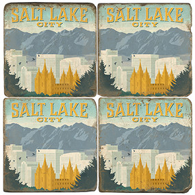 Salt Lake City, Utah Coaster Set