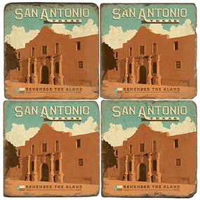 San Antonio, Texas coaster set.