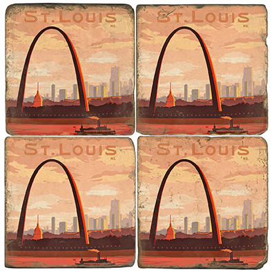 St. Louis Arch Coaster Set