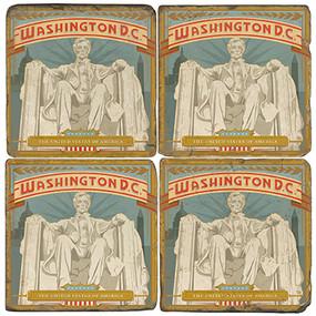 Lincoln Memorial Coaster Set