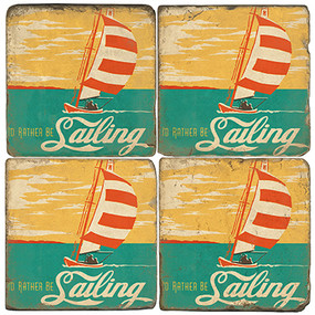 Sailing Themed Coaster Set.  Illustration by Anderson Design Group.