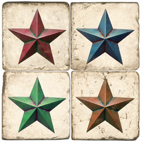 Rustic Star Coaster Set.