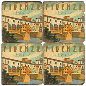 Florence, Italy Coaster Set. Illustration by Anderson Design Group.