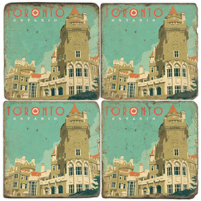 Toronto, Canada Coaster Set. Illustration by Anderson Design Group.