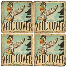 Vancouver, Canada Coaster Set.