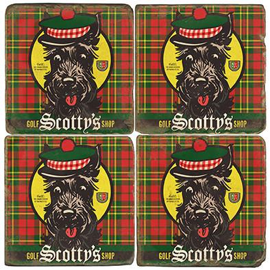 Scotty's Golf Shop Coaster Set. License artwork by Anderson Design Group.