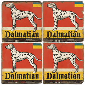 Dalmatian Coaster Set. License artwork by Anderson Design Group. Handmade Marble Giftware by Studio Vertu.