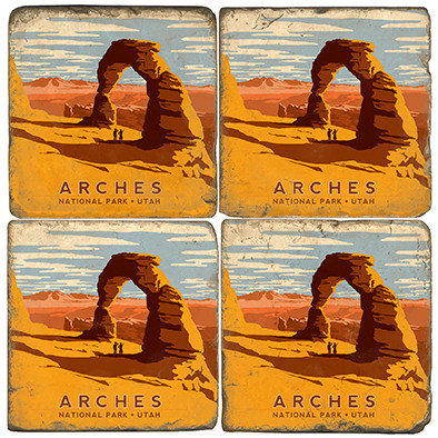 Arches National Park Coaster Set. License artwork by Anderson Design Group.
