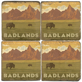 Badlands National Park. License artwork by Anderson Design Group.