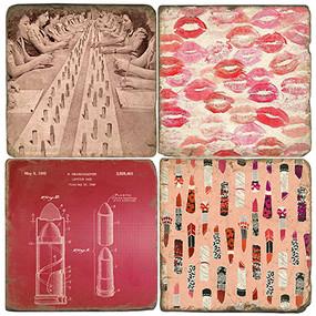 Lipstick Coaster Set.
