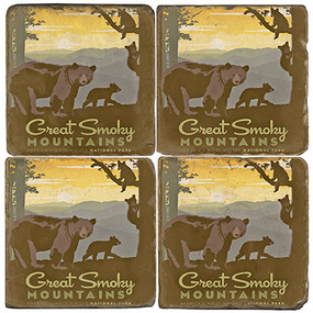 Great Smoky Mtn. National Park Coaster Set. License artwork by Anderson Design Group.