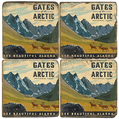 Gates of the Arctic National Park.License artwork by Anderson Design Group.