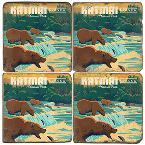 Katmai National Park. License artwork by Anderson Design Group.