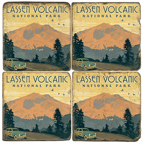 Lassen Volcanic National Park Coaster Set. License artwork by Anderson Design Group.