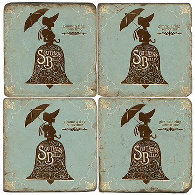 Southern Belle Coaster Set.  Hand Made Marble Giftware by Studio Vertu.