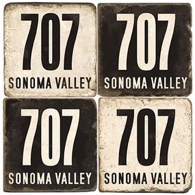 Sonoma Area Code 707 Coaster Set.