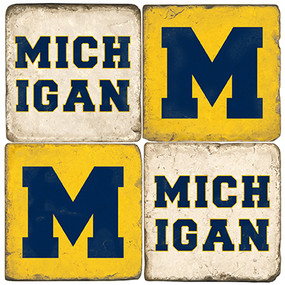 Michigan Coaster Set.  Handmade Marble Giftware by Studio Vertu.