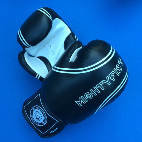 Mightyfist Black Leather Boxing Gloves