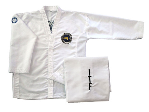 Fully embroidered Matrix Traditional logo dobok