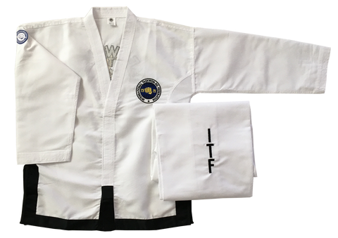 Fully embroidered Matrix Traditional logo Black Belt dobok