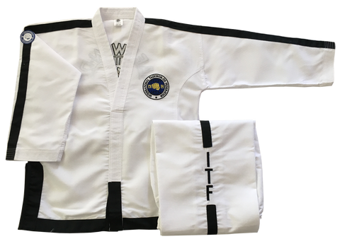 Fully embroidered Matrix Traditional logo Instructor and Master dobok
